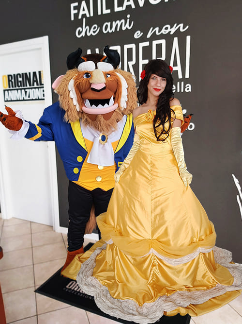 Mascotte La Bella e La Bestia (The Beauty and The Beast) - Animazione Bambini